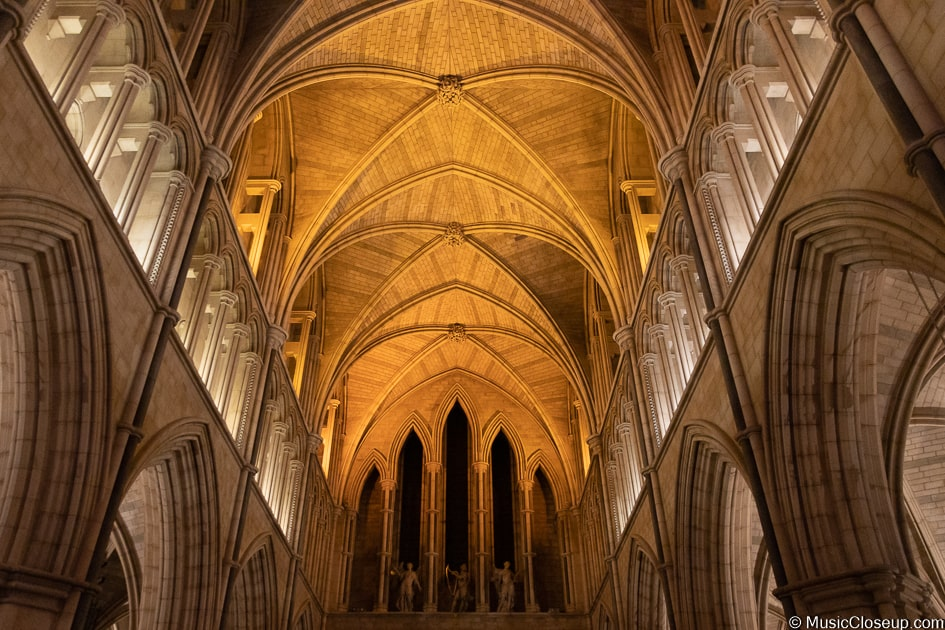 Southwark Cathedral's vaulted ceiling