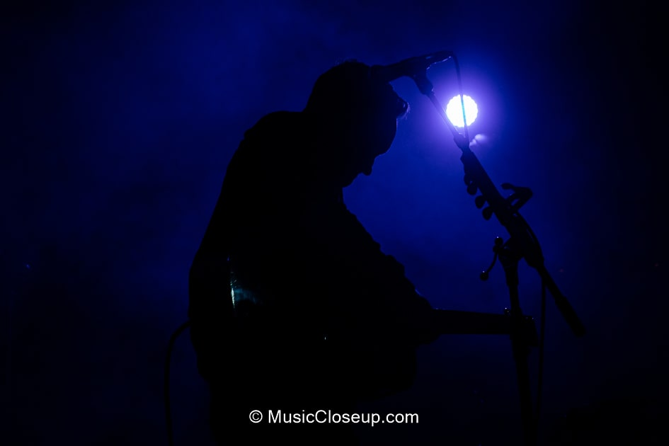 Dave Hause in silhouette