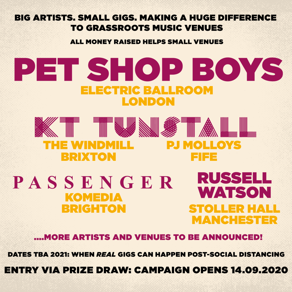 Poster showing bands and venues